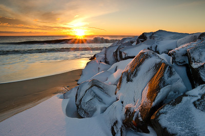 2014 2-14 Anchorage Beach Snow at Sunrise-170